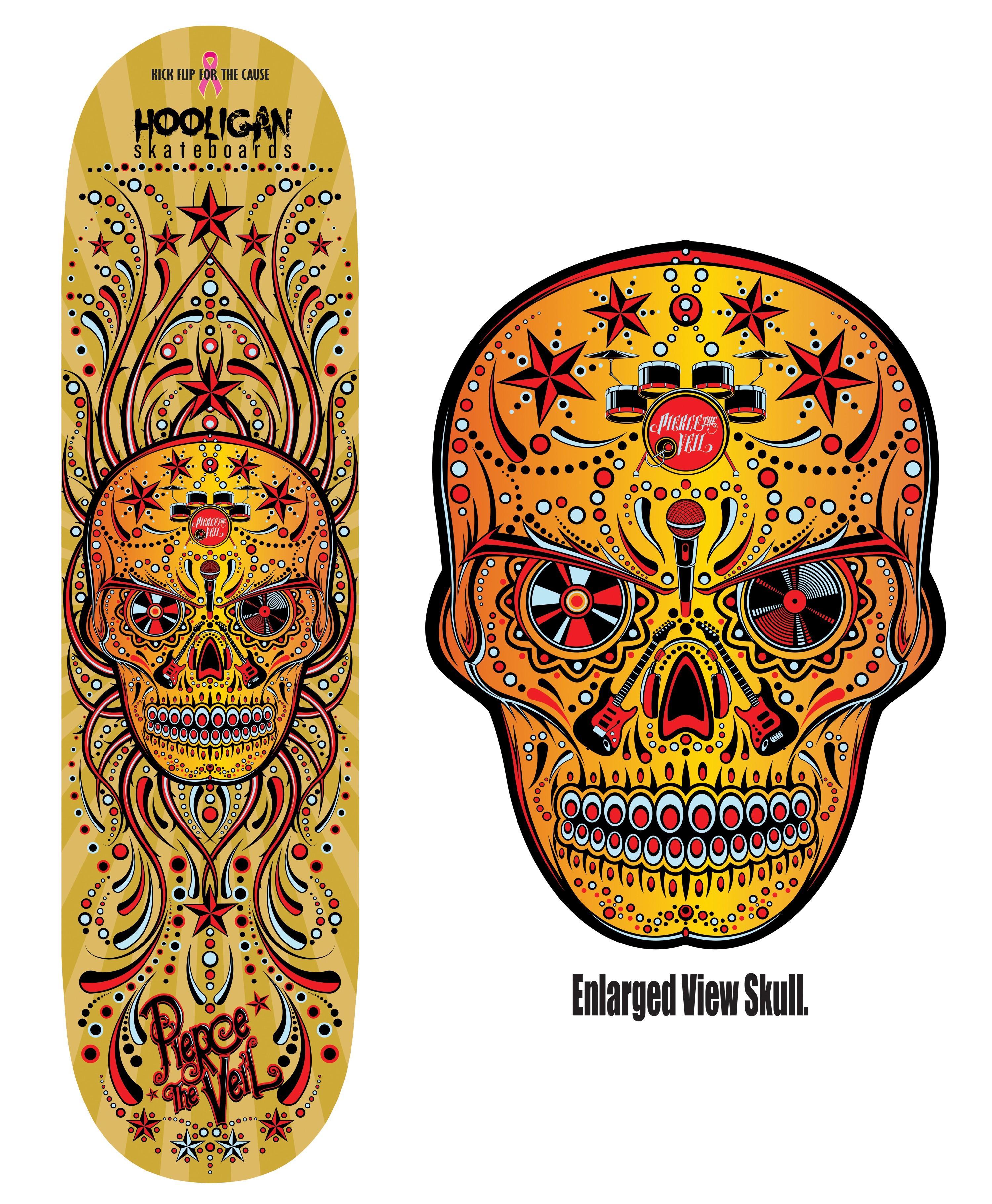 Sugar Skull Music Design Deck version2 by reyjdesigns