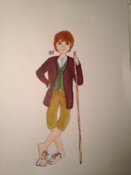 Bilbo Baggins fanart by LittleLadyLlama