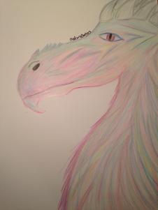 Un dragon colore by LittleLadyLlama