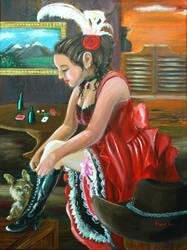 The saloon girl by kamkam2828
