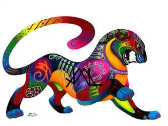 Oaxacan Big Cat by JillianLambertArt