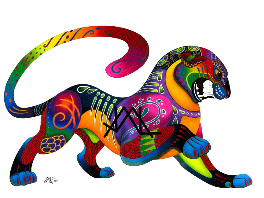 Oaxacan Big Cat by JillianLambertArt