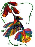 Oaxacan Hummingbird by JillianLambertArt