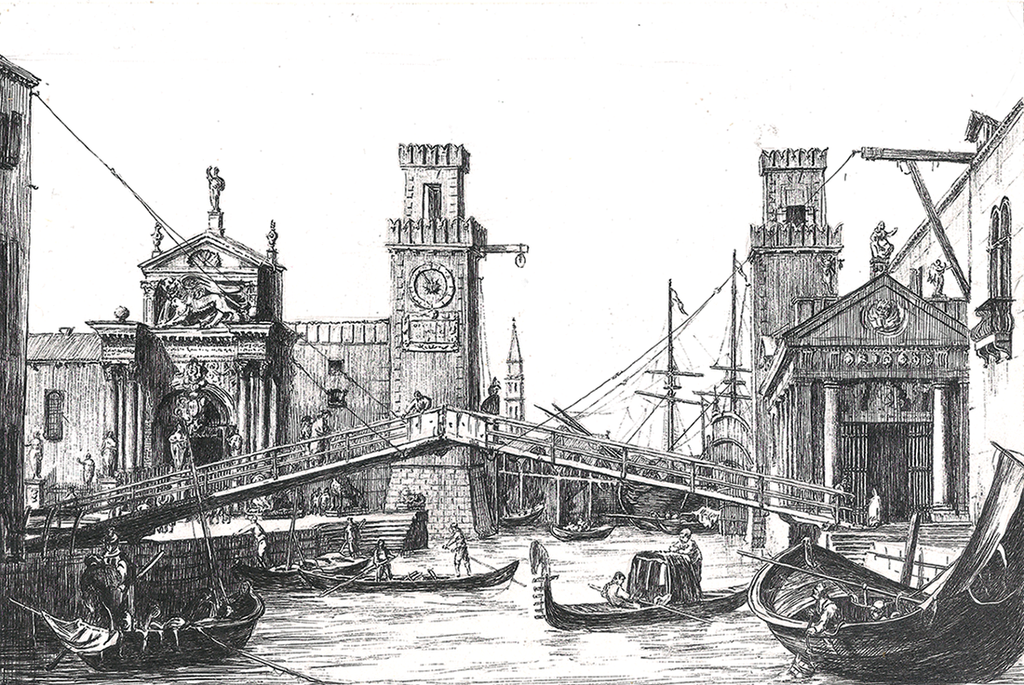 After the 'Entrance to the Arsenal' by Canaletto by alverena