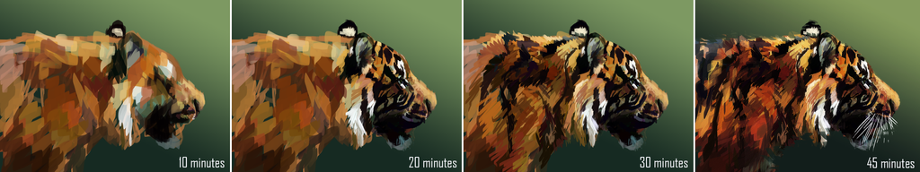 Tiger Painting-Step-by-Step by RaerBear