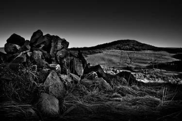 Rocks On Lac Pavin France by Phil-Norton
