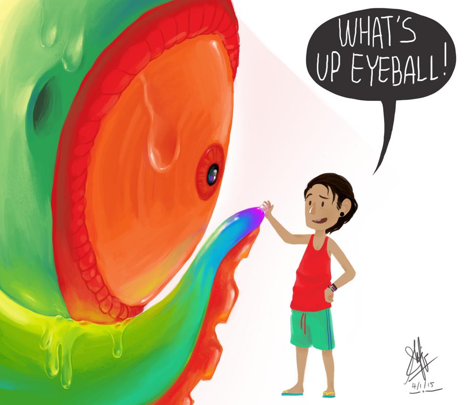 An Eye of a creature by shafiqsaya