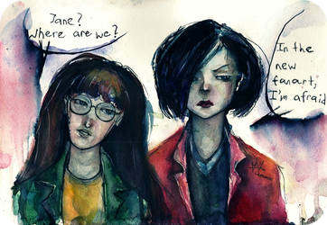 Daria and Jane by vaenaton