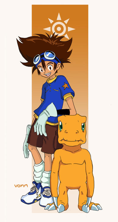 Tai and Agumon by Tvonn9