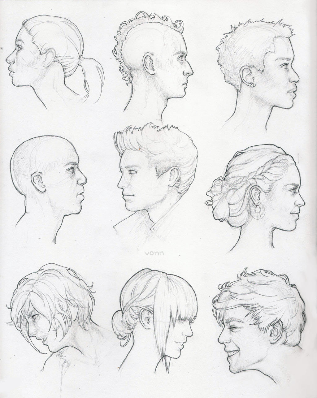 It is a graphic of Obsessed Side View Drawing Reference