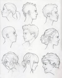 Profile Study Sketches by Tvonn9