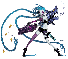 Commission: Pixel Jinx by Tvonn9