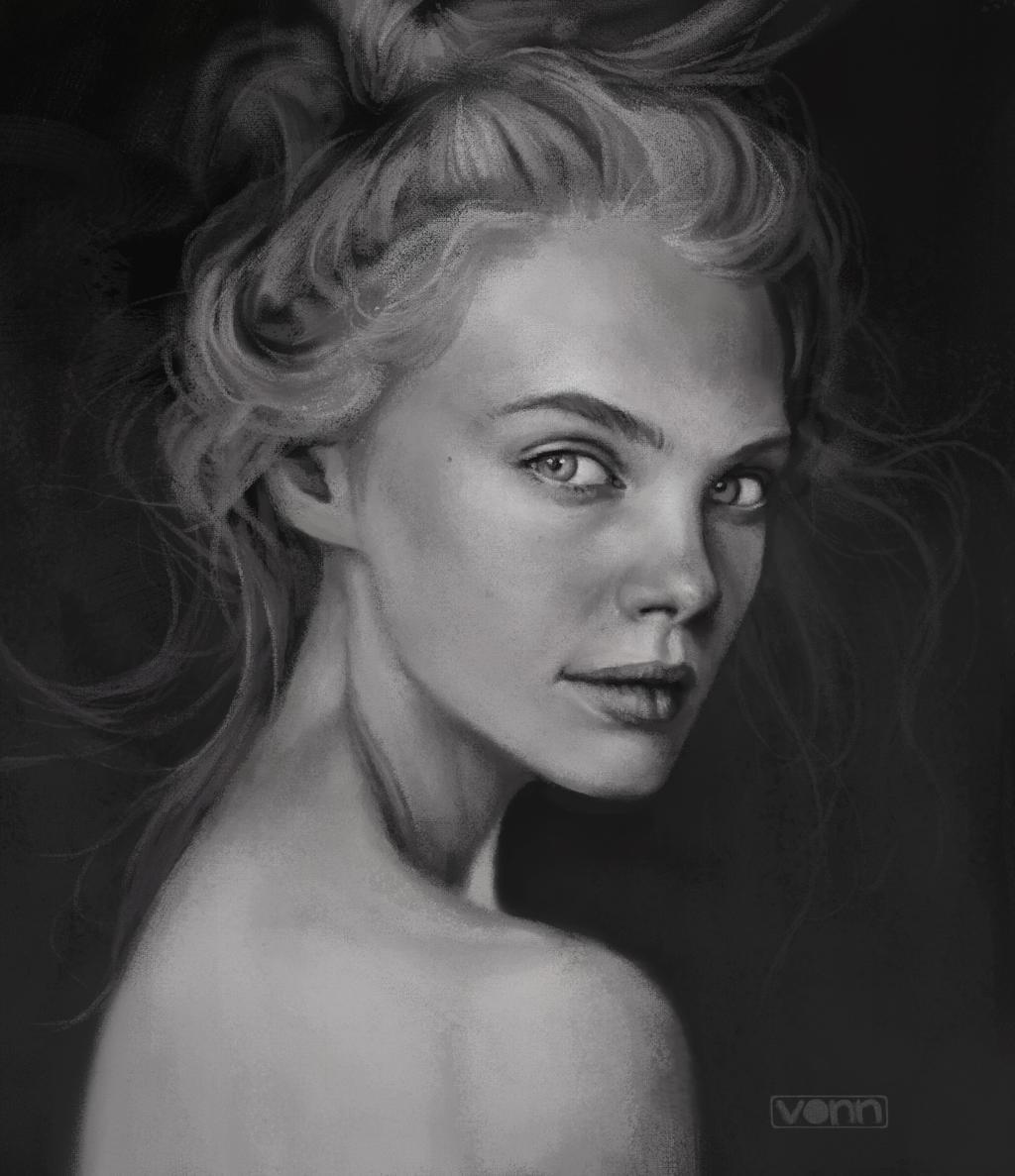 Female Profile Sketch 122514 By Tvonn9