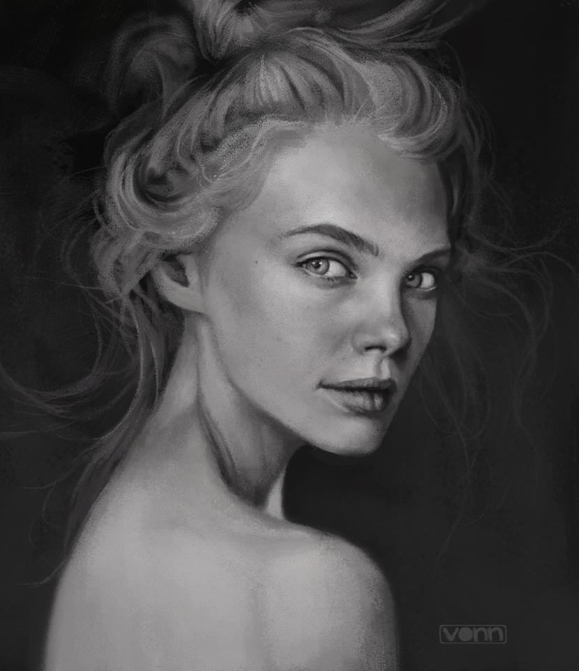 female profile sketch 12 25 14 by tvonn9 on deviantart