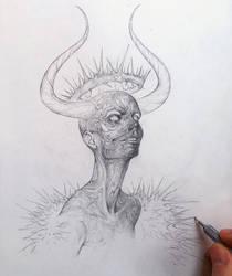 Vonn Sketch 12.21.15 - The King of Self-Sabotage by Tvonn9