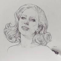 Vonn Sketch 2.29.16 - Gaga by Tvonn9