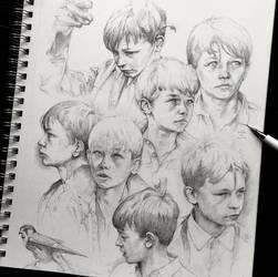 Vonn Sketches 4.11.16 - Week of Kes by Tvonn9