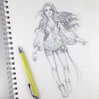 Christina, the Princess Sketch