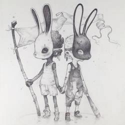 Vonn Sketch - Battered Bunnies