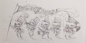 Drawtober 1/31 - Skeleton Parade