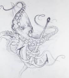 Drawtober 9/31 - Nautical Terror by Tvonn9