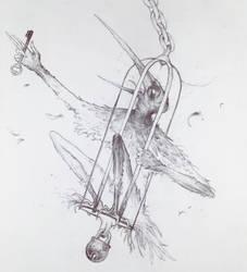 Drawtober 10/31 - Feathered Howler by Tvonn9