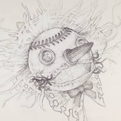 Drawtober 11/31 - Button Eyed Scarecrow by Tvonn9