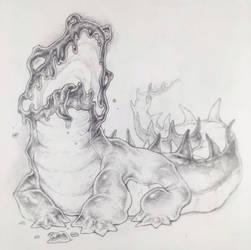 Drawtober 13/31 - Goopy Gobbler by Tvonn9