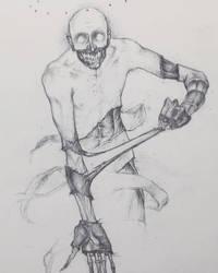 Drawtober 10/31 - Flesh Ripper by Tvonn9