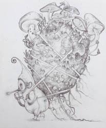 Drawtober 15 - Fungus Collector by Tvonn9