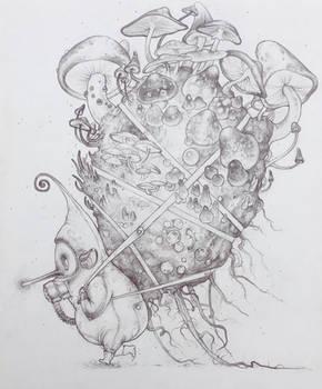 Drawtober 15 - Fungus Collector