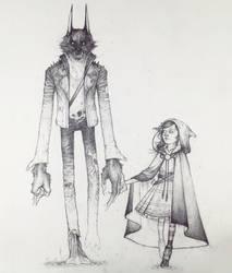 Drawtober 25/31 - Little Red's Wolf