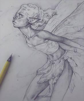 Vonn Sketch 4.25.18 - Garden Fairy