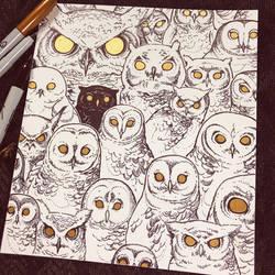Drawtober - Night Owl