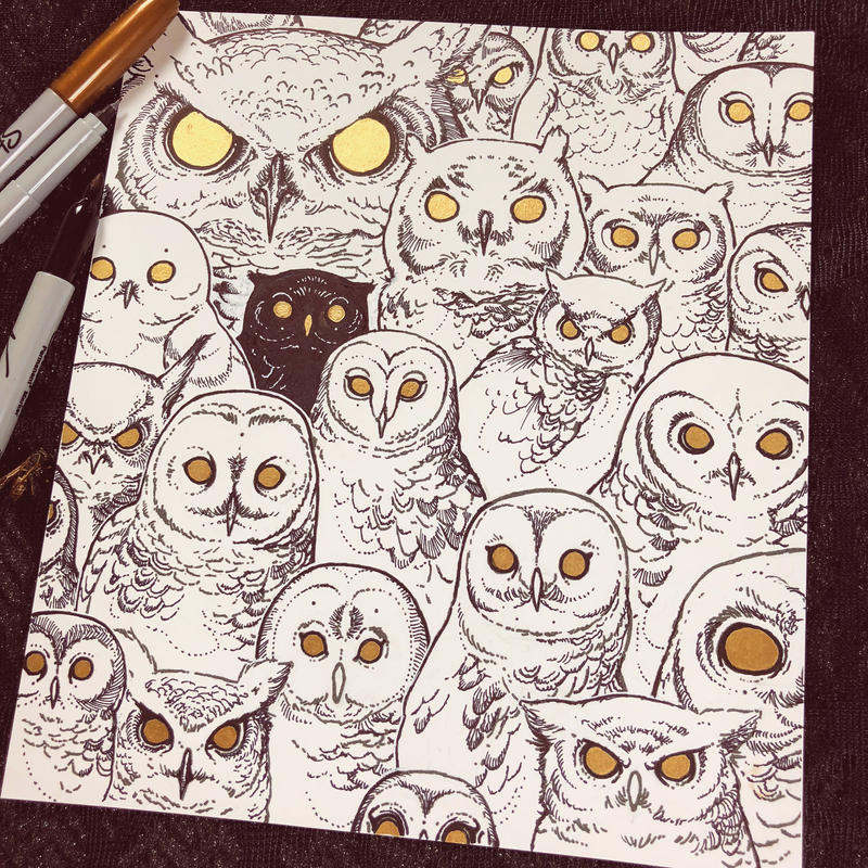 Drawtober - Night Owl