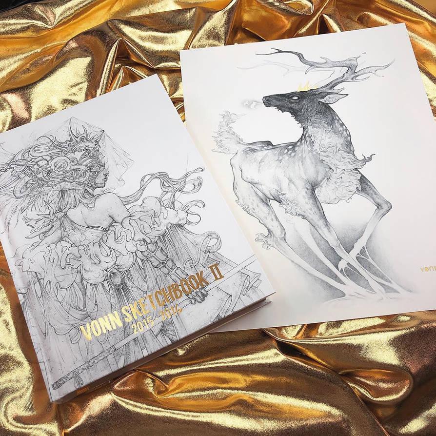 Vonn Sketchbook 2 is BACK IN STOCK! by Tvonn9