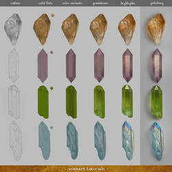 Coloring Crystals Step by Step