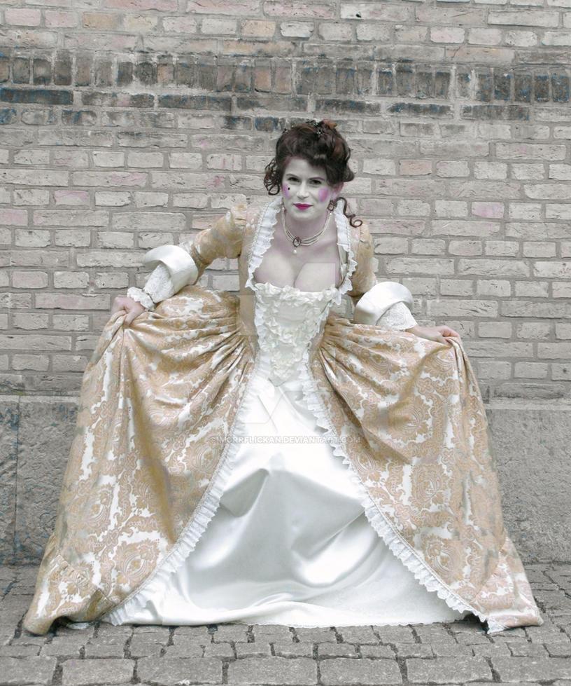 18th century brocade gown by morrflickan on DeviantArt