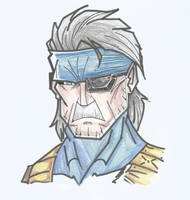 Old Snake (MGS4) by danonymgs3
