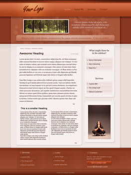 orange homepage design