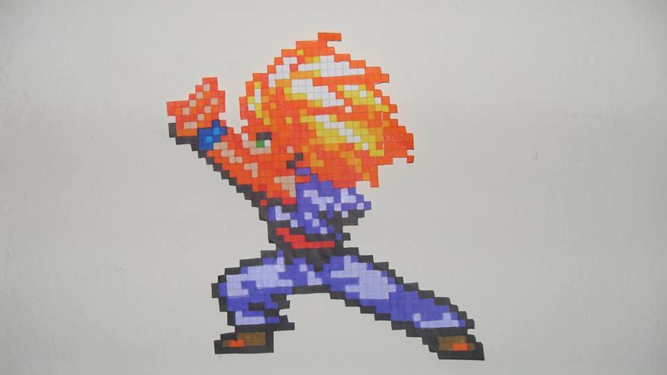 Gohan Ssj2 Hama Beads 8 Bits Pixel Dragon Ball Z By