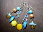 Summer Ocean Earrings by MythrilAngel