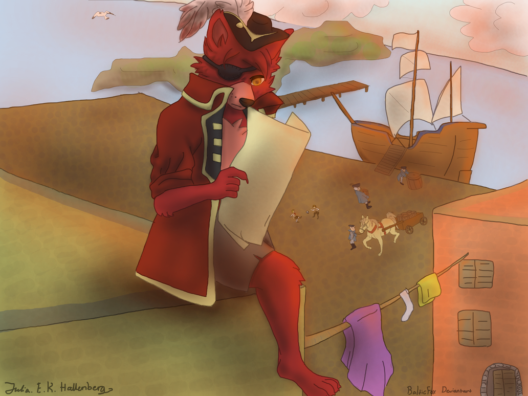Young pirate foxy the pirate fox by balticfox on deviantart