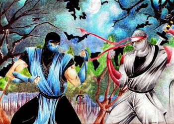 my ninja vs sub zero by robsonkatocha