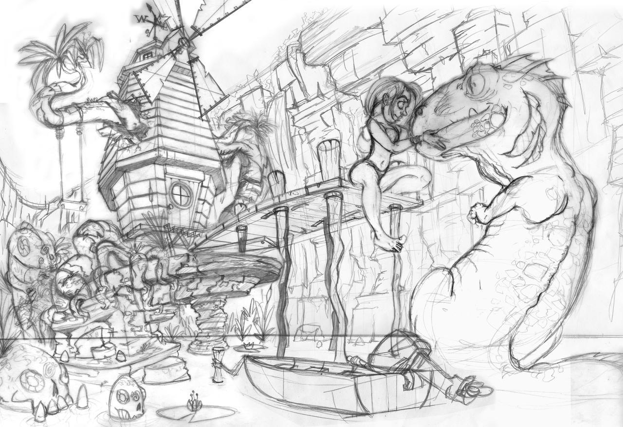 Windmill Sketch by legrosclown on DeviantArt