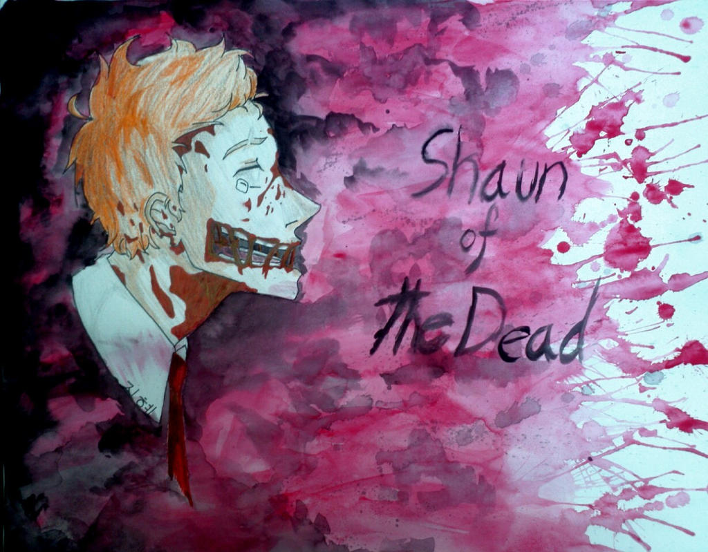 Shaun of the Dead: Blood Splatter by YouJustGotAnimated