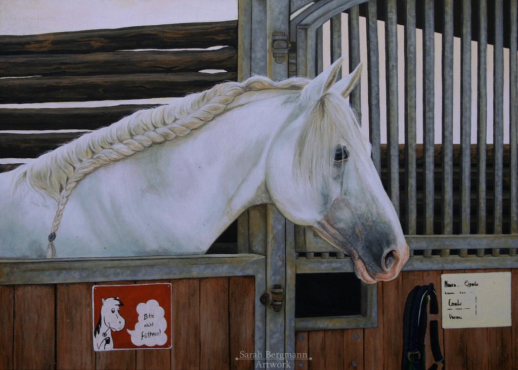 Waiting - Acrylic painting by BLACKNIGHTINGALE81