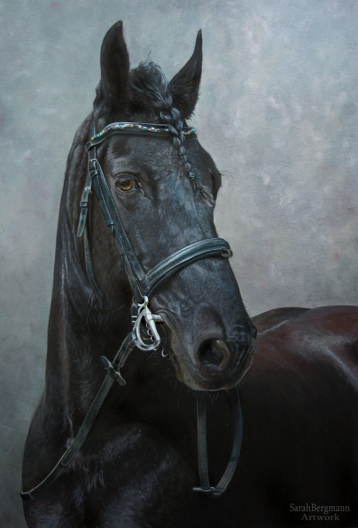 Friesian - Acrylic painting by ooBLACKNIGHTINGALEoo