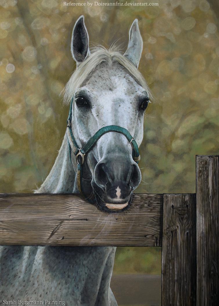 Arabian Mare - Acrylic Painting by ooBLACKNIGHTINGALEoo
