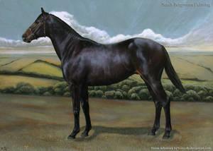 Classic horse pose - Acrylic painting by ooBLACKNIGHTINGALEoo